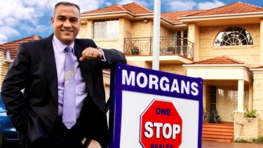 Sid Morgan worked as a real estate agent after leaving the police force.