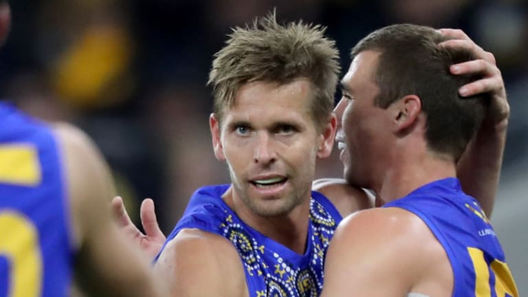Eagles coach Adam Simpson said it was important for the club's leaders to show the way.