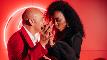 "Christian Louboutin and Kelly Rowland at the ""Loubi Lounge"" in honour of Christian last Friday."