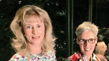 Club president Helen Moylan and Governor of Victoria Linda Dessau