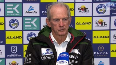 Wayne Bennett was not happy with Sam Burgess or the Rabbitohs' performance.