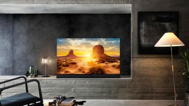 The FZ1000, which starts at $4999 for a 55-inch model, has a built-in soundbar. The FZ950, with no soundbar, starts at $3849.