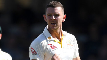 Test star Josh Hazlewood did the damage as NSW bowled out South Australia to seal victory in the Sheffield Shield on Monday.