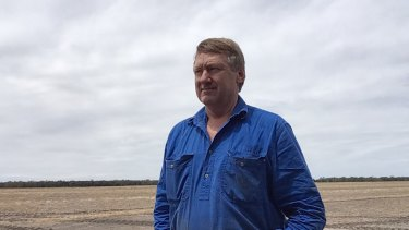Matthew Madden on his property outside Moree, NSW.