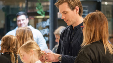 Plaits are difficult at the best of times, Max Wagschall, with daughter Charlotte Wagschall, masters the art.