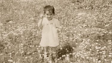 Ilkin, aged two, in Safranbolu wearing a dress made by her grandmother.