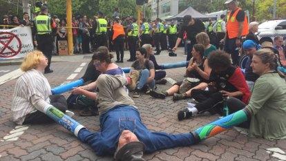 Police confirm 65 arrests after climate change protest brings Perth CBD to standstill