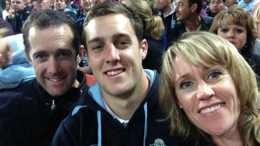 Old soul ... Isaah Yeo with his parents Justin and Amy back in 2014.