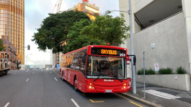 New two-hourly SkyBus bus services have begun running between the Brisbane CBD and the Brisbane Airport.