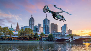 Uber expects to offer commercial flying taxis in Melbourne by 2023.