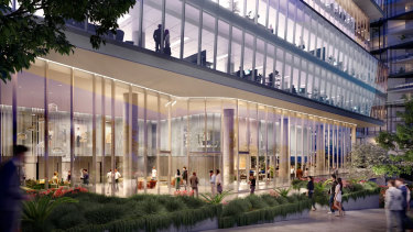 The office building at 2 Banfield Road in Macquarie Park will be an A-grade 12-storey commercial office tower with almost 15,000 sq m of space.