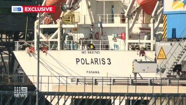 The MV Polaris 3 in Townsville.