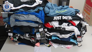 Sports goods seized by Strike Force Merengue.