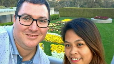 Nationals MP George Christensen married April Asuncion in October.