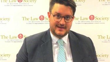 WA Law Society PresidentNicholas van Hattem.