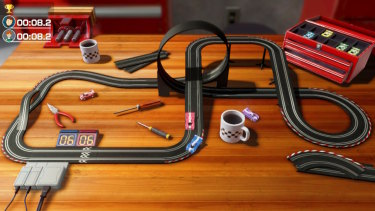 Even games as simple as slot cars benefit from a lot of care in the presentation.