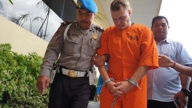 DavidVanIersel at Denpasar police station on July 23.