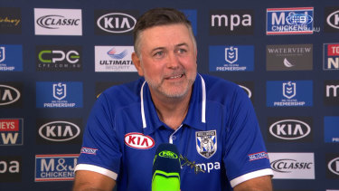 Extension: Bulldogs coach Dean Pay has been given an extra 12 months, but time is up for some of his football staff.