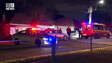 A man has died after being shot at a home in Sydney's western suburbs.