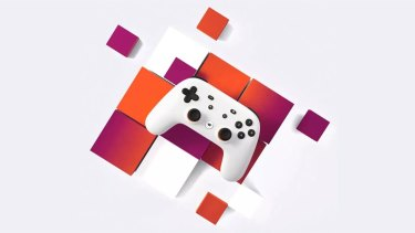 The Stadia controller, which connects directly to Google's servers via Wi-Fi.
