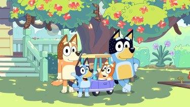A scene from hit children's TV show Bluey.