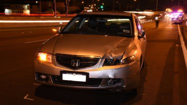 The vehicle involved in the crash.