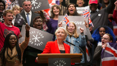 Vivienne Rook, played by Emma Thompson in the TV series Years And Years, is a right-wing politician.