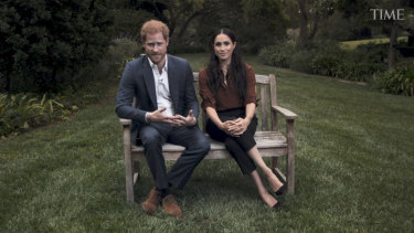 Prince Harry and Meghan Markle make their address on National Voter Registration Day.