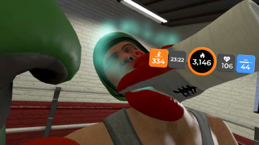 The YUR fitness VR overlay can show you how you're tracking mid-game.