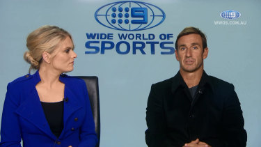 Feud for thought: Erin Molan and Joey Johns.