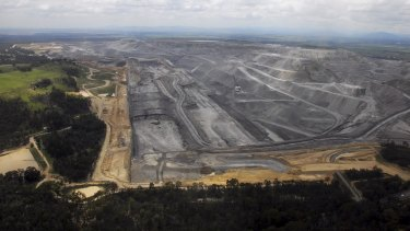 The Warkworth open-cut coal mine near Bulga in the Hunter Valley.