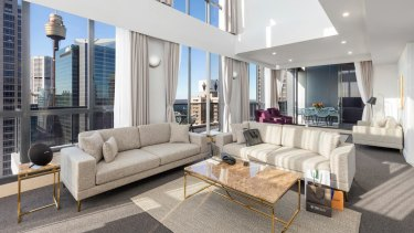 The Meriton Pitt Street apartment that Sonny Bill Williams and his family may be staying at on his return to Australia.