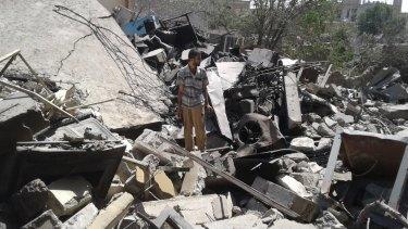 The house of Sheikh Mohamed Ghanim al-Saffar, destroyed in an air strike on June 13, 2017, killing 35 members of the extended Saffar family.