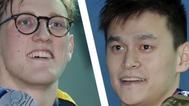 Rivals Mack Horton and Sun Yang.