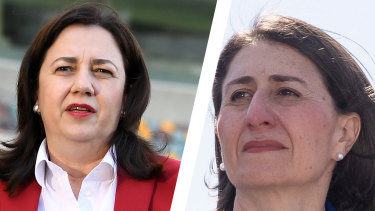 NSW says it may never reach the threshold set by Queensland to reopen its borders, with Premier Gladys Berejiklian warning that 28 days of no community transmission is not feasible.