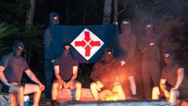 Members of the Australian neo-Nazi group National Socialist Network.