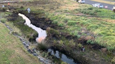 The Paisley Challis Drain was heavily contaminated on Tuesday.