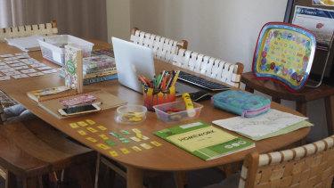 Danielle Loizou-Lake's home-schooling zone.
