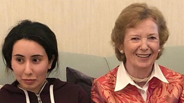 'I was absolutely stunned,' said ex-Irish president Mary Robinson after the picture of her with Latifa emerged.