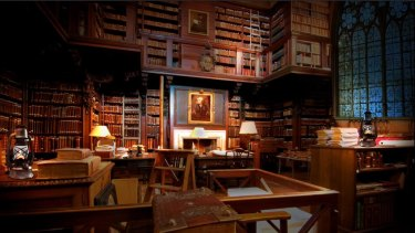 A Harry Potter-themed ambience room, set inside the beloved Hogwarts library, as seen on YouTube.