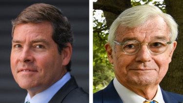 Oliver Yates (Independent) and Julian Burnside (Greens) are challenging Josh Frydenberg in Kooyong.