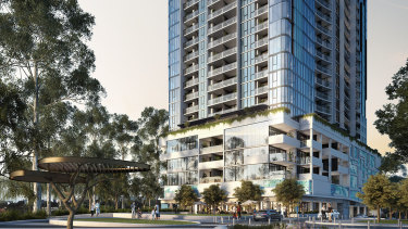 Bensons Property Group's Liberty One tower in Footscray.