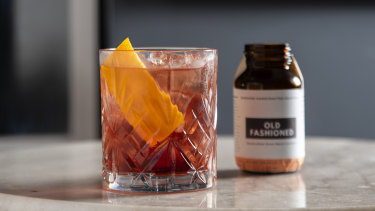 An Old-Fashioned from Bottled Cocktails.