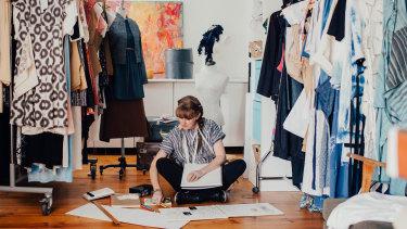 Donovan at home in her studio in Farrer.