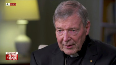 Cardinal George Pell spoke with  conservative commentator Andrew Bolt on Sky News.