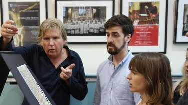 Antony Pitts and members of The Song Company in a recent rehearsal.
