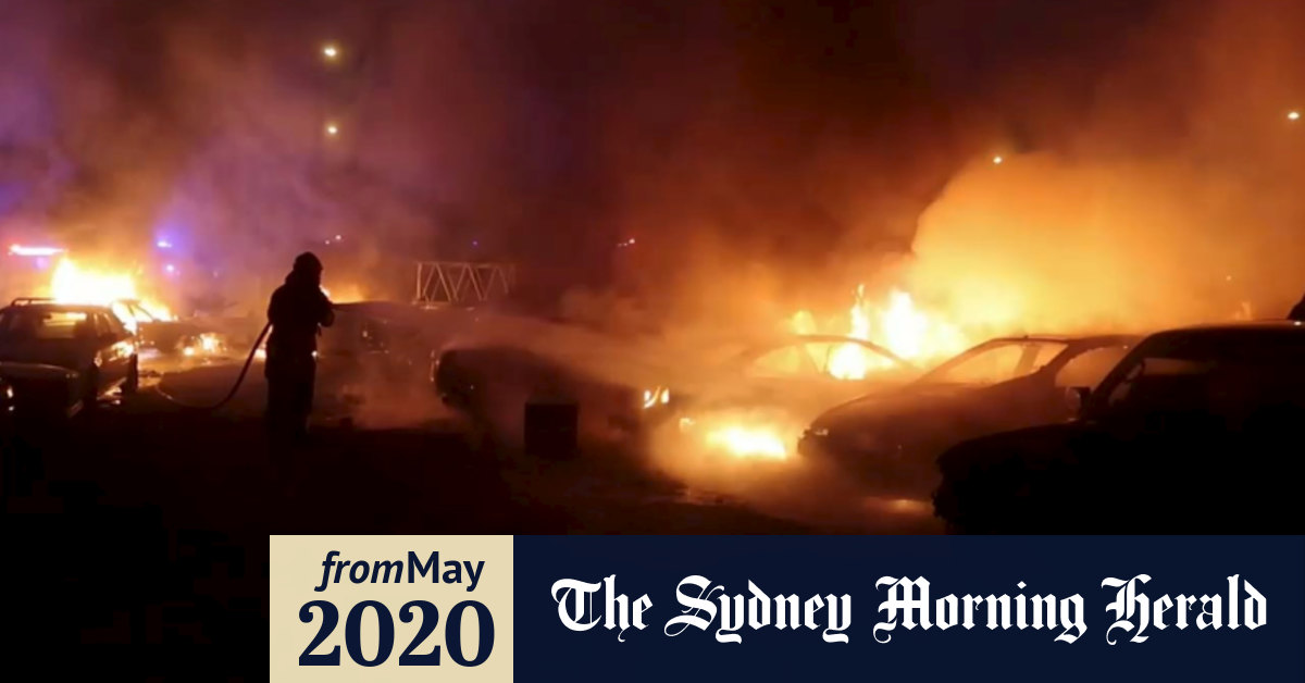 Wrecking yard fire in Sydney's south-west torches at least ...