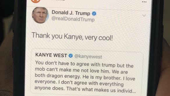 Oh, Yeezus: Trump and Kanye West trade complimentary tweets