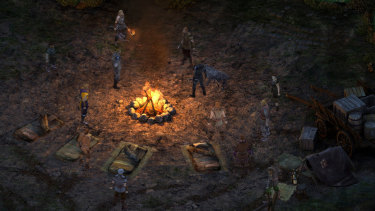 Camping to restore your health is one of the charms of Pillars of Eternity.