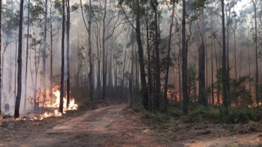 A fire burning in the Meroo National Park has closed camping grounds.